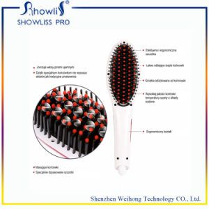 LCD Display Electric Hair Straightener Brush pictures & photos