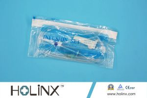 Disposable Infusion Set IV Set with Plastic Spiker with Airvent 150cm Tube pictures & photos