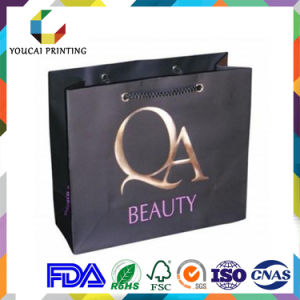 Fancy Rectangular Branded Garments Retail Bag with Custom Gold Embossed Logo pictures & photos