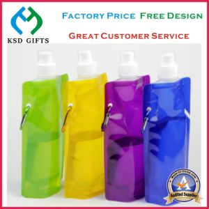 Promotional PE Metallic Foldable Water Bottle pictures & photos