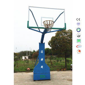 Imitation Hydraulic Basketball Stand, School Gymnasium Basketball Stand with Base pictures & photos