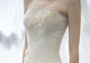 Korea Style White Ivory Strapless Mermaid Wedding Dress with Long Veil pictures & photos