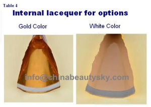 Golden Internal Coating Inside Hair Color Cream Packaging Aluminum Tubes pictures & photos