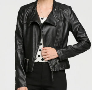 Fashion Cultivate One′s Morality Fake Leather Shorts Jacket Puj0711 pictures & photos