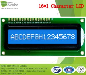 16X1 Character LCD Display, MCU 8bit, Stn Blue, 16pin Header, COB LCD Monitor pictures & photos