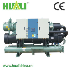 Huali 432kw Screw Type Compressor Water Cooled Water Chiller pictures & photos