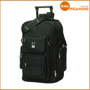 Dual Purpose Multifunction Black Big Man Travel Bag Trolley Backpack pictures & photos