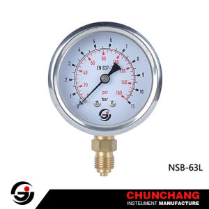 Wika Type 63mm Liquid Filled Pressure Gauge pictures & photos