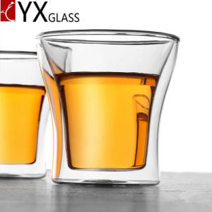 Borosilicate Glassware Double Wall Glass Cup Coffee Espresso Glass Drinking Glass Mug Heat-Resistant Glass Tea Cup pictures & photos