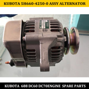 Kubota DC60 DC70 Diesel Spare Parts 5h660-42500 24V Assy Alternator pictures & photos