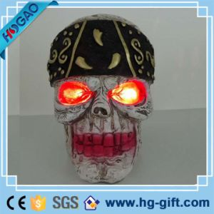 Realistic Human Skull Head Resin Model Skeleton Halloween Bar Decor pictures & photos
