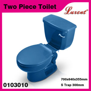 Porcelain Single Flushing Dual Flush Whole Sale Dark Blue 2PC Toilet