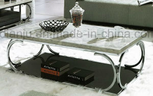 Furniture Stainless Steel Marble Coffee Table (CT083)