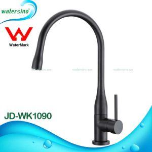 Jd-Wk308 Hot Sale Sqaure Design Brass Swivel Sink Kitchen Mixer with Sedal Ceramic Valve pictures & photos