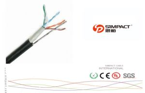 CPR Approved Outdoor FTP Cat5e 4p with Messenger pictures & photos
