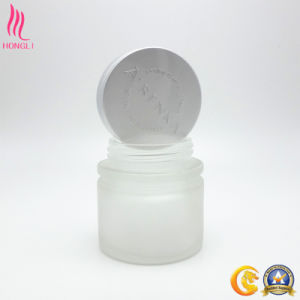 OEM Frosted Glass Cream Jar with Logo Printed Lid pictures & photos