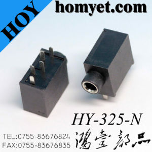 3.5mm Stereo Audio Connnector DIP Through Hole Phone Jack (HY-325-N) pictures & photos