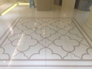 Water-Jet Parquet Nano Glass Stone Floor Tile pictures & photos