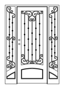 Customized High Quality Wrought Iron Gate Entrance Door pictures & photos