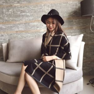 Fashion Female New Long Plaid Scarf Imitation Cashmere Shawls pictures & photos