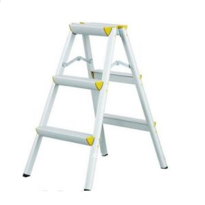 Aluminium Foldable Double Side Ladder SGS Approved pictures & photos