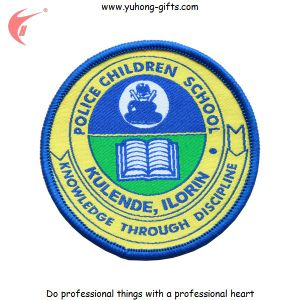 2015 New College Badge Patch Back with Iron-on (YH-WB110) pictures & photos