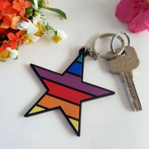 Promotion Custom Soft PVC Keychain with Logo Printing pictures & photos