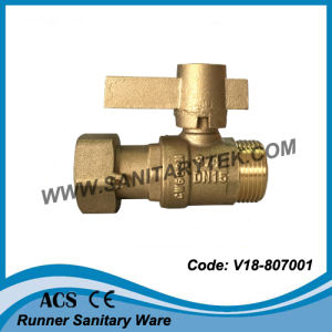 Water Meter Brass Ball Valve (V18-807001) pictures & photos