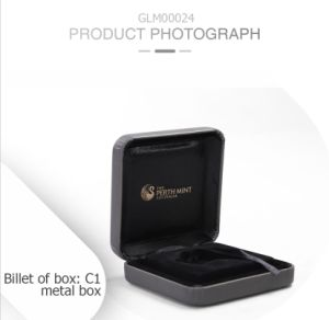 Elegant Leisure Buckle Clamshell Leather Metal Gift Box pictures & photos
