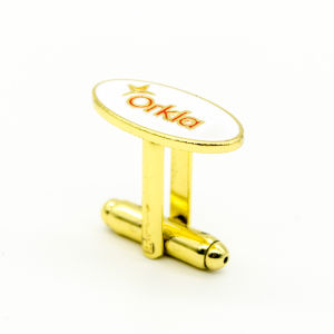 Hard Enamel Brass Cufflink Promotion Gift pictures & photos
