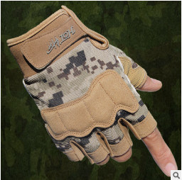 Outdoor Sports Climbing Cycling Commando Army Tactical Half Gloves (SYSG-1891) pictures & photos