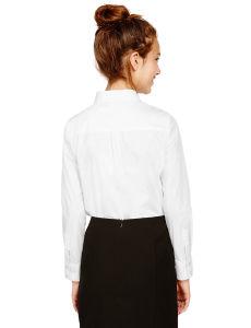 Senior School Girls′ Cotton Blend Shirt pictures & photos