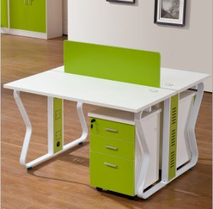 2 Seats Straight Desk Workstation Cluster Staff Office Partition (HX-NCD179) pictures & photos