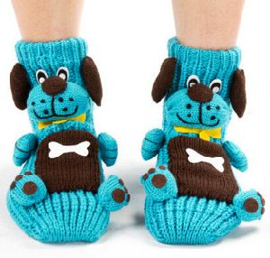 Made to Order Woman Hand Knitted Gripper Socks Cartoon Style pictures & photos
