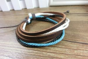 Fashion Hand Made Bracelet Leather Jewelry Bracelet Promotion Gift pictures & photos