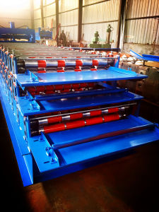 Three Layer Metal Tile Roll Forming Machine pictures & photos