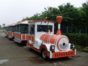 Gasoline Powered Amusement Trackless Train pictures & photos