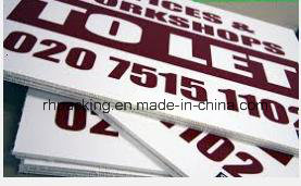 Screen Printing with Simple Color Best Price for PP Coroplast Correx Corflute PP Sheet/PP Board pictures & photos