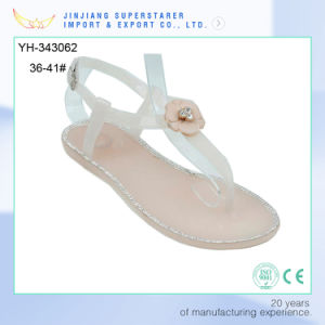 Wholesale Low MOQ Women Sandals Low Heel Ladies Fancy Sandal pictures & photos