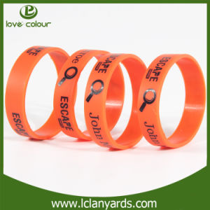 Printing Color Silicon RFID Bracelet with Silk Screen Logo pictures & photos