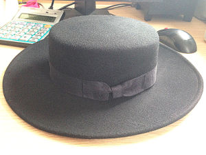 Flat Top Elegant England Style Hat High Quality Pork Pie Cap pictures & photos