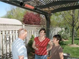 Garden Radiance Stainless Steel Outdoor Deck Patio Warmer Heater