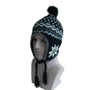 Complex Design Warm Ear Knitted Hat pictures & photos
