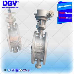 Dbv Triple Eccentric Flanged Industrial Butterfly Valve