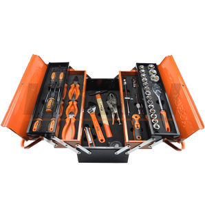 2017 Tool Box 5 Compartments Machinist Tool Set 72 PCS pictures & photos