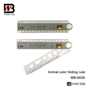 Colorful Animal Folding Stationery Rulers for School and Office