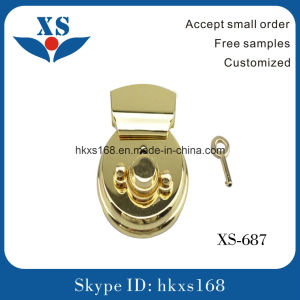Gold Plated Round Metal Bag Lock pictures & photos