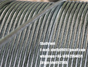 "3/8"" (7X3.05mm) Galvanized Steel Wire Strand for Guy Wire, Messenger pictures & photos"