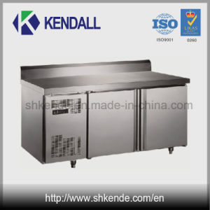 Double Door Stainless Steel Table Refrigerator