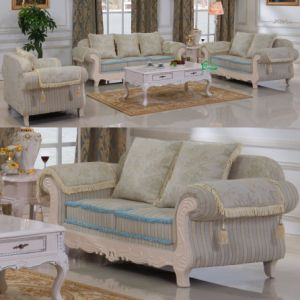 Living Room Furniture with Wood Sofa Set (D92) pictures & photos